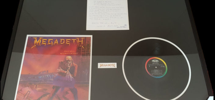 Hand written lyrics, by Dave Mustaine of 'Peace Sells But Who's Buying'