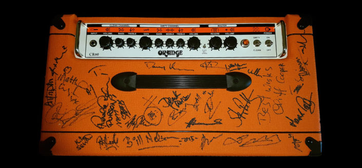 Signed by multiple artists from the world of prog